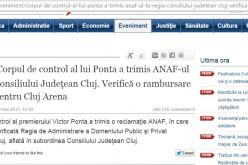 Ziua de Cluj dă un NEWS ALERT la 7 ore după Gazeta de Cluj. Copierea în regim de BREAKING NEWS