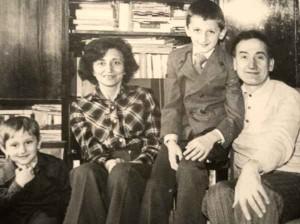 cu sotia si cei doi copiii Eugen Prjeslavschi