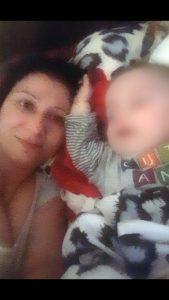 Ioana Bodea şi băieţelul său