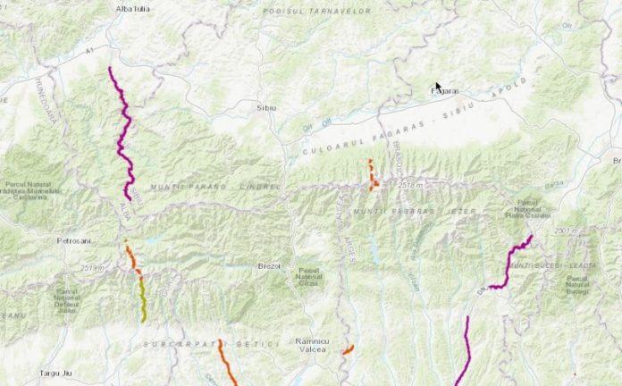 S A Lansat O Hartă Interactivă Cu Drumurile Naționale Din Romania
