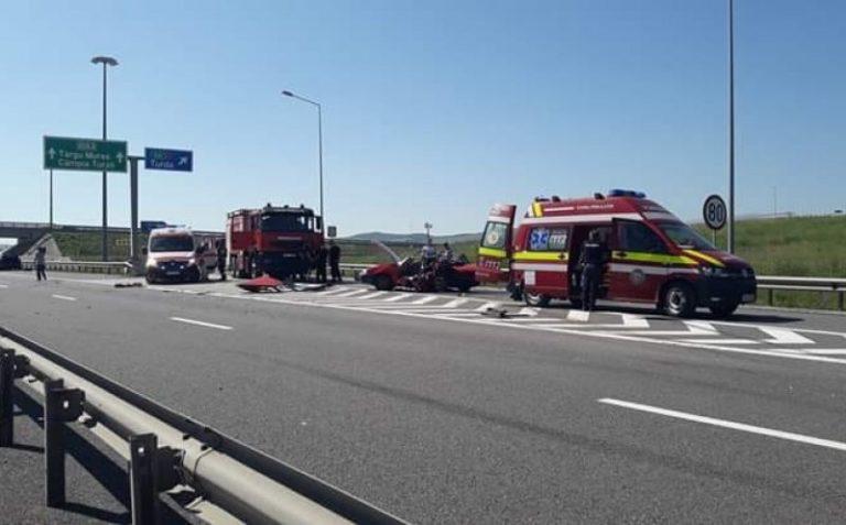 Accident mortal pe Autostrada Transilvania. A fost solicitat elicopterul SMURD
