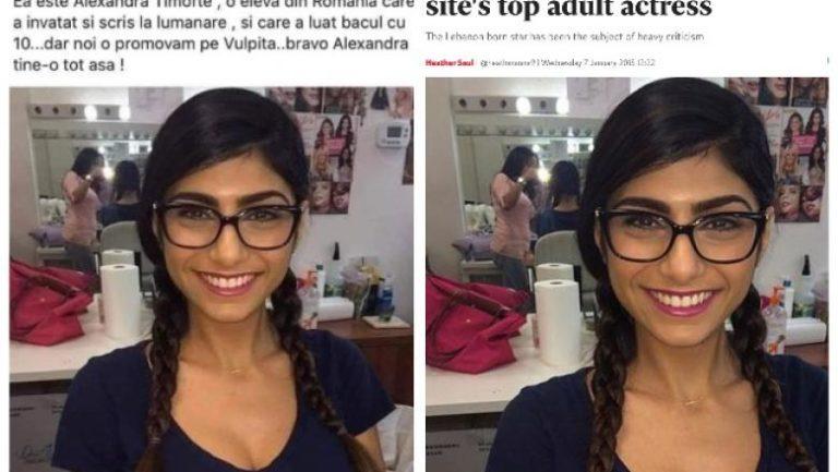 """Un consilier local din Cluj a distribuit o poză cu o actriță porno care era prezentată ca o """"elevă din România care a învățat și scris la lumânare și a luat bacul cu 10"""""""