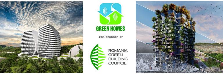 Cele mai noi ansambluri rezidențiale dezvoltate de STUDIUM GREEN  • precertificate GREEN HOMES de către Romania Green Building Council